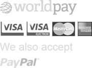 Secure payments by Worldpay - We accept Visa and Mastercard
