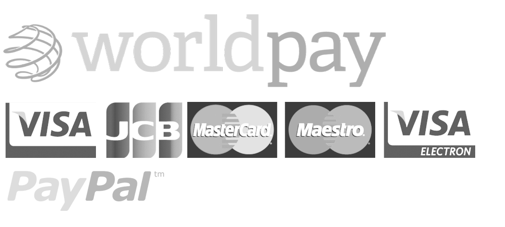 Secure payments by Worldpay - We accept Visa, Maestro, Mastercard, JCB and Paypal